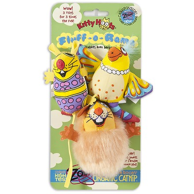 Fat Cat Fluff-O-Rama Katzenspielzeug Set, 3er Pack