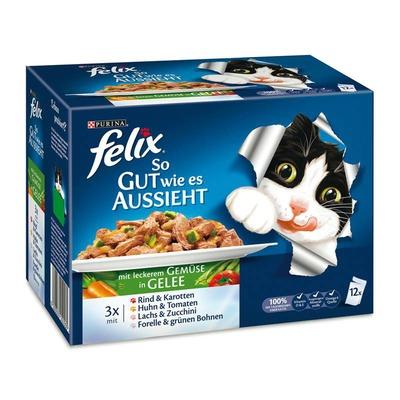 Felix So gut wie es aussieht Multipack Portionsbeutel, Gemüse 12x100g