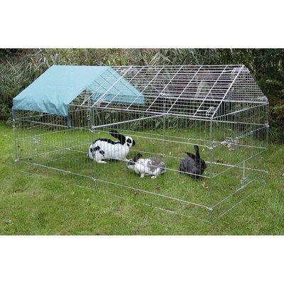 Kerbl Freigehege für Kaninchen mit Sonnenschutz