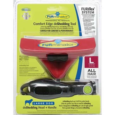 FURflex de Shedding für Hunde, Größe L - Kopf+Stiel