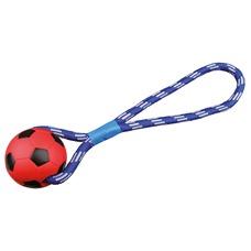 TRIXIE Fußball am Seil für Hunde
