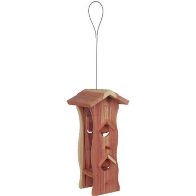 Futterspender Vogel aus Zedernholz