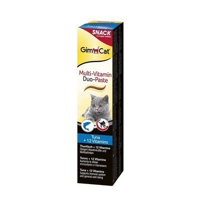 GimCat Multi-Vitamin Duo-Paste Thunfisch + 12 Vitamine, 200g