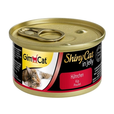 GimCat ShinyCat Katzenfutter, Hühnchen 24x70g