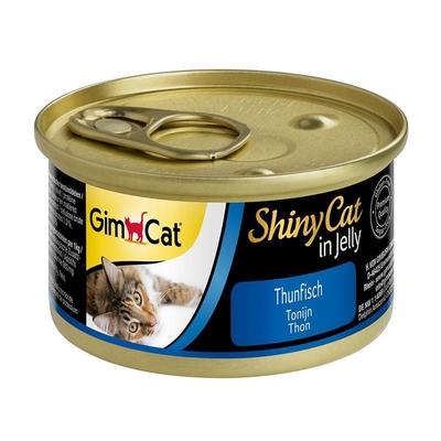 GimCat ShinyCat Katzenfutter, Thunfisch 24x70g