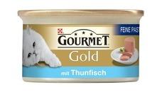 GOURMET Gold Feine Pastete Katzenfutter, Lamm & Bohnen, 12x85g
