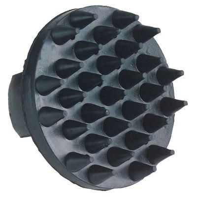 Gumminoppenstriegel, schwarz