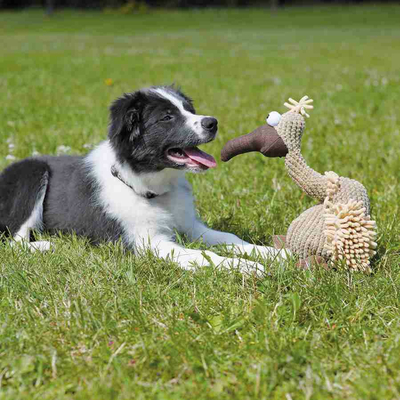 TRIXIE Gustav Geier aus Plüsch, Spielzeug für Hunde Preview Image