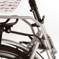 Halter für Hundefahrradkorb von Aumüller mit Rahmenmontage