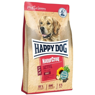 Happy Dog NaturCroq Active Adult Hundefutter, 15 kg