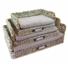 Happy House Rattan Hundebett mit Tau