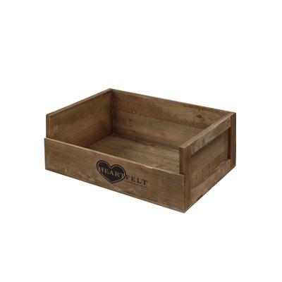 D&D Heartfelt Wooden Crate Hundebett aus Holz