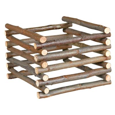 Trixie Heuraufe aus Holz zum Aufstellen