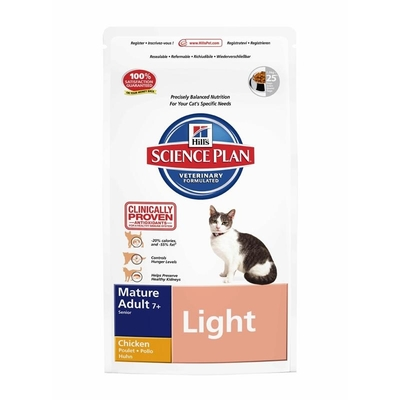 Hills Feline Light Mature Adult 7+ Senior Huhn