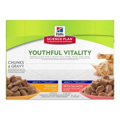 Hills Feline Multipack Adult 7+ Youthful Vitality