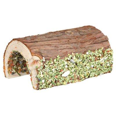 TRIXIE Holz Brücke Kaninchen und Kleinnager mit Gemüse und Nüssen