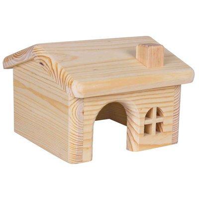 TRIXIE Holzhaus ohne Klammern und Nägel für Hamster und Mäuse