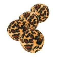 TRIXIE 4 Katzen Spielbälle Leopardenmuster