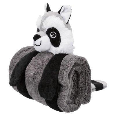 TRIXIE Hunde Kuschel-Set, Decke mit Spielzeug