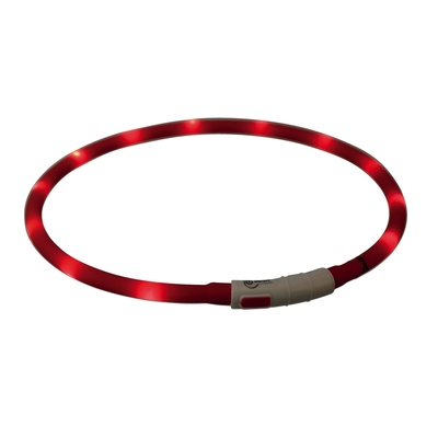 TRIXIE Hunde Leuchthalsband Leuchtring USB