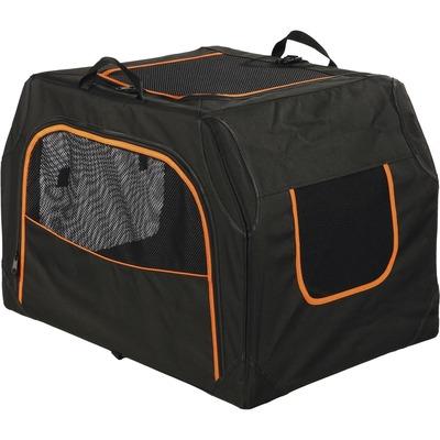 Trixie Hunde Transporthütte Transportbox Extend erweiterbar, S/M: 68 x 47 x 48 cm, schwarz/orange