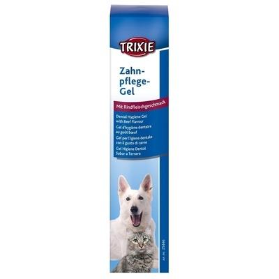 Trixie Hunde und Katzen Zahnpflege Gel mit Rindfleischgeschmack