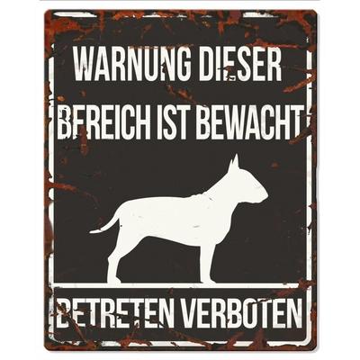 Hunde Warnschild Bull Terrier