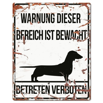 DREAM and DARE Hunde Warnschild Dachshund Preview Image