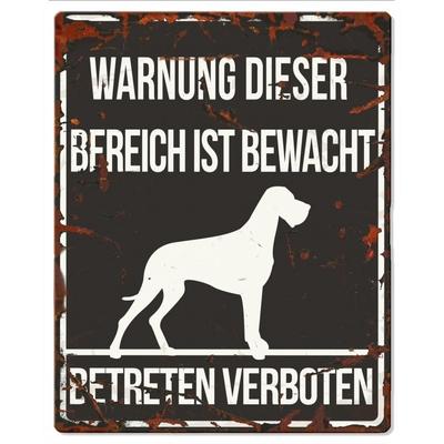 DREAM and DARE Hunde Warnschild Dänische Dogge Preview Image