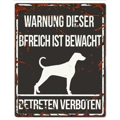 Hunde Warnschild Dalmatiner