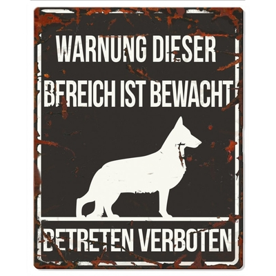 DREAM and DARE Hunde Warnschild Deutscher Schäferhund