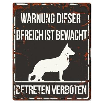 Hunde Warnschild Deutscher Schäferhund