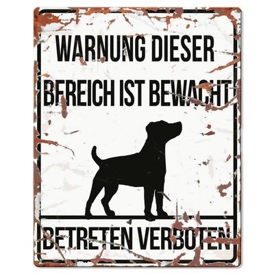 DREAM and DARE Hunde Warnschild Jack Russell Metall