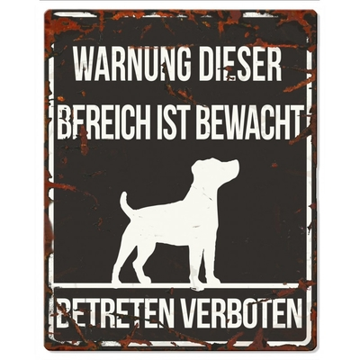 DREAM and DARE Hunde Warnschild Jack Russell Metall Preview Image