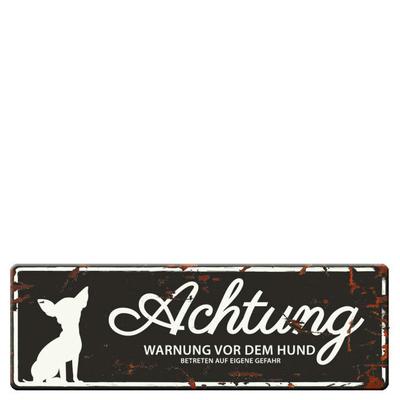 DREAM and DARE Hunde Warnschild Mini Chihuahua Preview Image