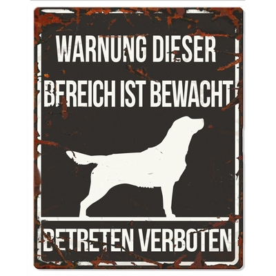 Hunde Warnschild Retriever