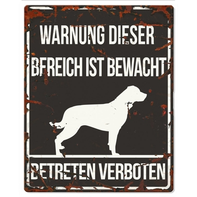 DREAM and DARE Hunde Warnschild Rottweiler