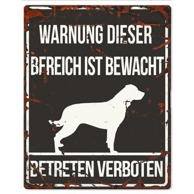 Hunde Warnschild Rottweiler