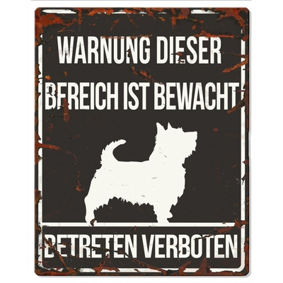 Hunde Warnschild Terrier