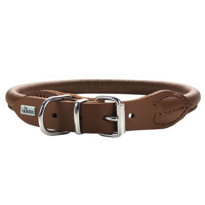 Hunter Hundehalsband Round & Soft Leder