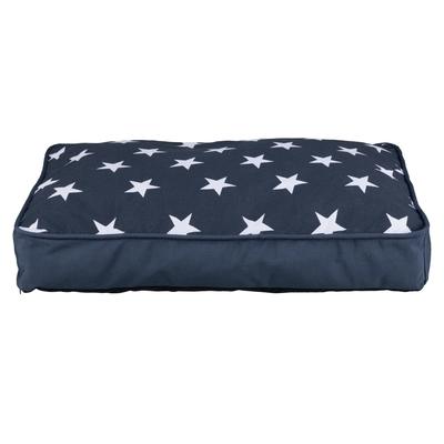 Hundekissen Stars eckig, 110 × 80 cm, dunkelblau