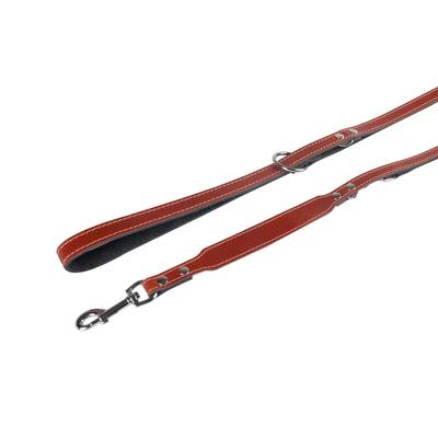 Hundeleine Twist aus Leder, L: 200 cm B: 12 mm braun, verstellbar