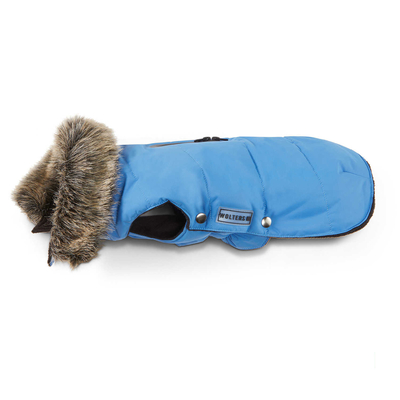 Wolters Hundeparka mit Fellkragen, 65cm riverside blue