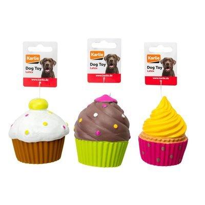 Hundespielzeug Cupcakes mit Squeaker