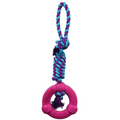 TRIXIE Hundespielzeug Ring am Tau