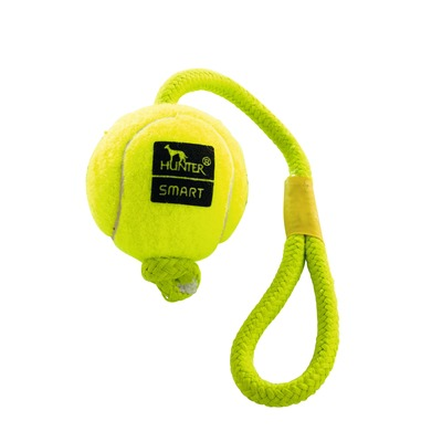 Hunter Hundespielzeug Tennisball Throw mit Kordel