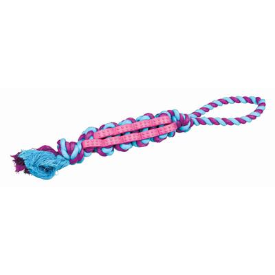 TRIXIE Hundespielzeug Twisted Stick mit Tau