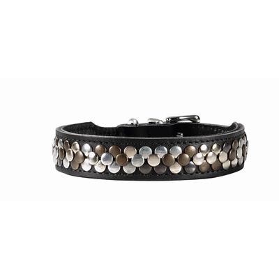 Hunter Arizona Halsband, 50 :Hals 35,0 ? 43,0 cm, Breite 3,9 cm, schwarz