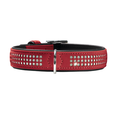 Hunter Halsband Softie Triluxe, 37-43 cm, rot, 2,9 cm
