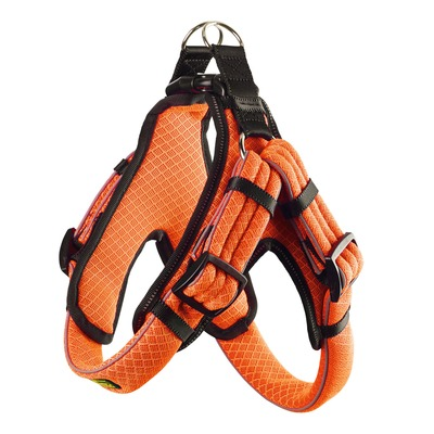 Hunter Hundegeschirr Manoa Vario Quick Light, XL 75-85 cm, 33 mm, orange